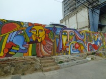 Colorful art on a wall - Valparaiso