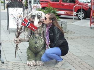 Kissing a troll!
