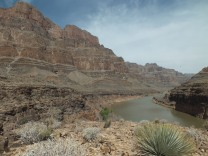 The Grand Canyon from the shores of the Colorado River (helicopter photo break)