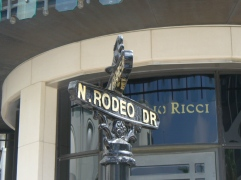 "Luxury shopping on the Rodeo Drive in Beverly Hills (known from ""Pretty Woman"")"