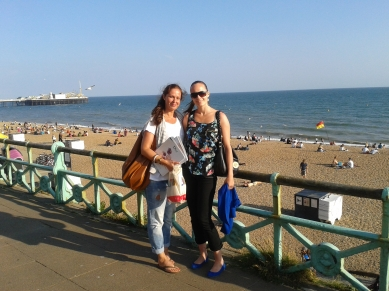 Charlotte & Anne in Brighton - seaside!