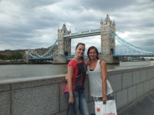 Good friends in front of the Tower Bridge!