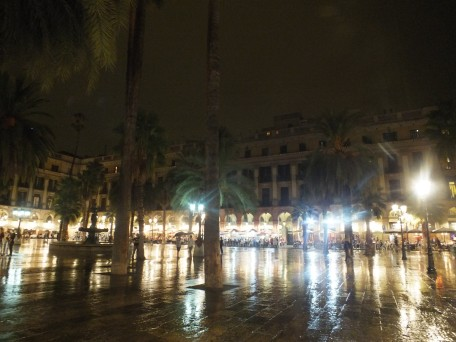 My top favorite - Plaça Reial - even beautiful in the evening rain
