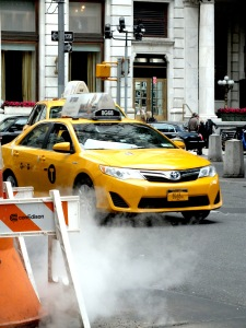 A typical NYC yellow cab