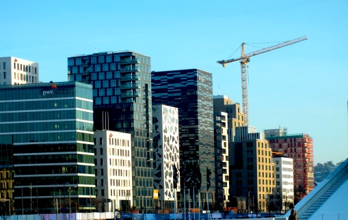 Oslo is developing fast, and new and exciting architecture is spreading. These building are situated close to the New Opera and the Main Station.