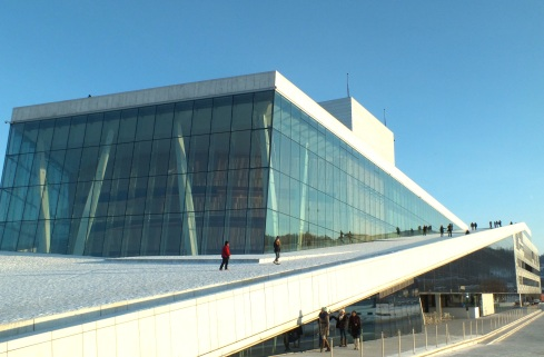 The New Opera & Ballet is an architectural  wonder and you can walk up on the roof, seeing the building from different angles. In the summer, there are concerts and events taking place on the roof.