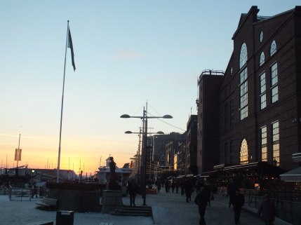"Aker Brygge is a dream in the summer. You sit down, drink a glass of white wine accompanied with fresh shrimps bought directly from the ships. In the wintertime it is perfect for a stroll or for visiting one of the many restaurants lined up along the shore. This is also where you take the boat of you want to visit the island ""Nesodden"" (you can take the boat back and forth to see Oslo from the ocean, a great experience)."