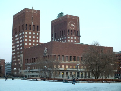 The City Hall of Oslo (close to Aker Brygge and Akershus Festning).