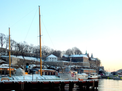 """The stronghold """"Akershus Festning"""" is situated right next to Aker Brygge, providing a beautiful view over the fjord and telling an important history about  the nations development over the last 700 years."""