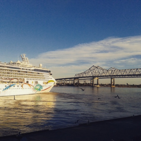 "Idyll on the Mississippi with the ""Norwegian Dawn""."