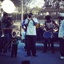 New Orleans is full of music. These guys were really good and check out the little one - just adorable!