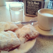"Hot and fresh ""Beignets"" at the cult cafe ""Cafe du Monde"" - very, very yammi!"