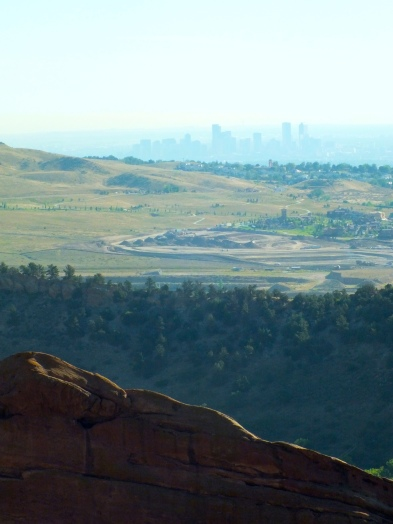 From the Red Rocks, you can see Denver in concealed in fog like a well hidden secret.