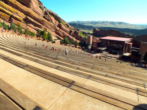 The Red Rocks Open Air Theater does not only provide great concerts - it also gives you an amazing view of Denver and the Rocky Mountains in the back.