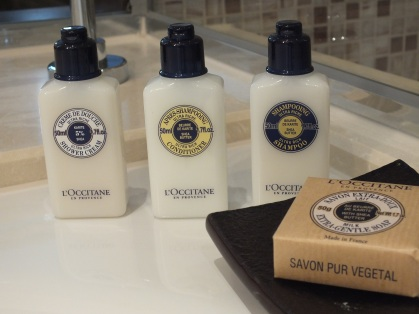 Seeing the brand L`occitane in the bathroom blew me away. Love it!