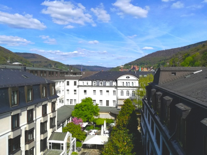 A unique feature of the spa: the roof terrace has an impressive view of the famous Heidelberg Castle! Noone can beat that!