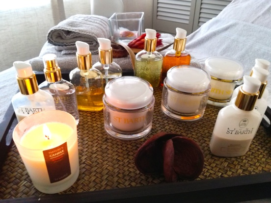 """During the facial, she used products from """"Ligne St. Barth"""" with wonderful smells and great effects. It left my skin softer than a baby butt, smelling like a lily!"""